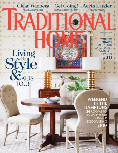 marliaina teich cover of traditional home magazine