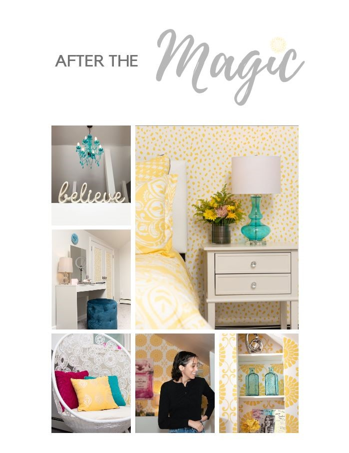 after bedroom makeover by Marlaina Teich