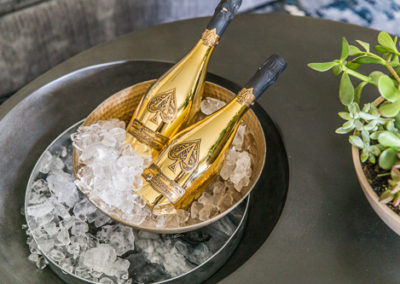 built in ice bucket with ace of spades champagne
