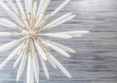 star burst shaped lighting fixture