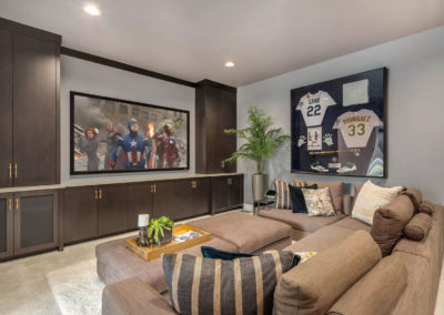 clyde hill interior design media room